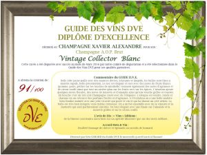 Diploma of the DVE Guide to Champagne Vintage Collector